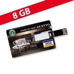 8 GB Speicherkarte in Scheckkartenform Starbucks Card USB – Bild 1