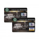 8 GB Speicherkarte in Scheckkartenform Starbucks Card USB – Bild 2