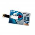 16 GB Speicherkarte in Scheckkartenform Bank of America Platinum Visa Card USB – Bild 1