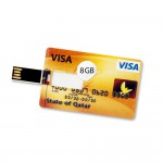 8 GB Speicherkarte in Scheckkartenform State of Qatar Visa Card USB – Bild 1