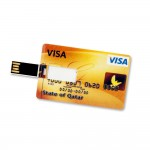 8 GB Speicherkarte in Scheckkartenform State of Qatar Visa Card USB – Bild 3